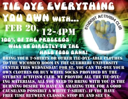 Tie Dye Fundraiser Flyer