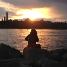 Girl Watching Sunset